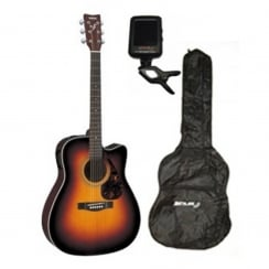Yamaha FX370C Acoustic Guitar|Tobacco Brown Sunrise|Free Accessories