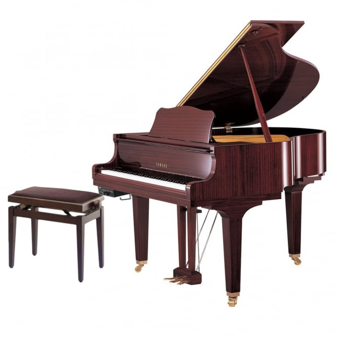 Yamaha GB1K SG2 Silent Grand Piano | Polished Mahogany