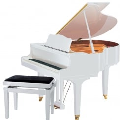 Yamaha GB1K SG2 Silent Grand Piano | Polished White