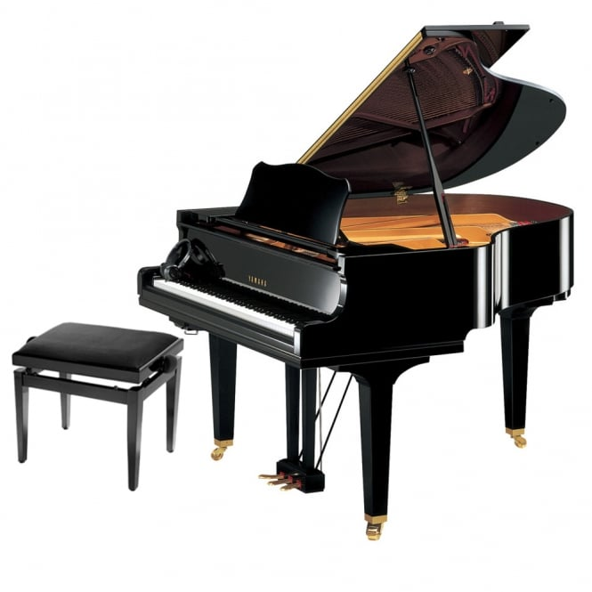 Yamaha GC1 SH Silent Baby Grand Piano | Polished Ebony