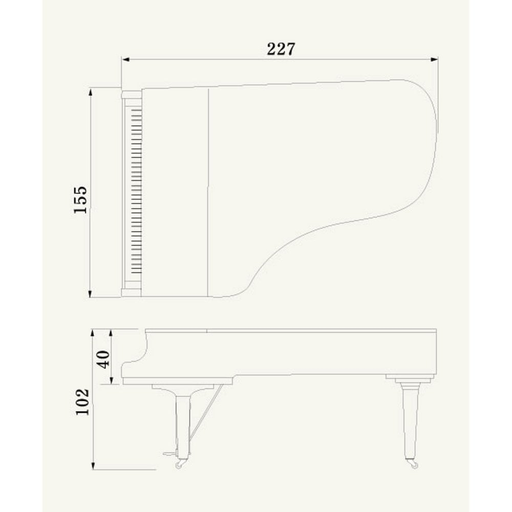 Yamaha Gc2pwh Baby Grand Piano From Rimmers Music Stagg Bass Guitar Wiring Diagram Gc2 Polished White
