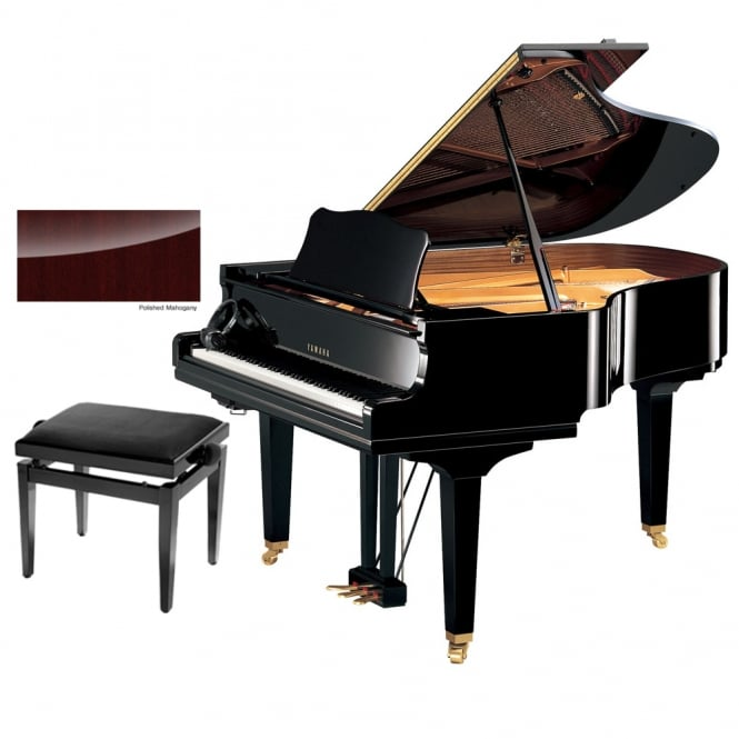 Yamaha GC2 SH Silent Baby Grand Piano | Polished Mahogany