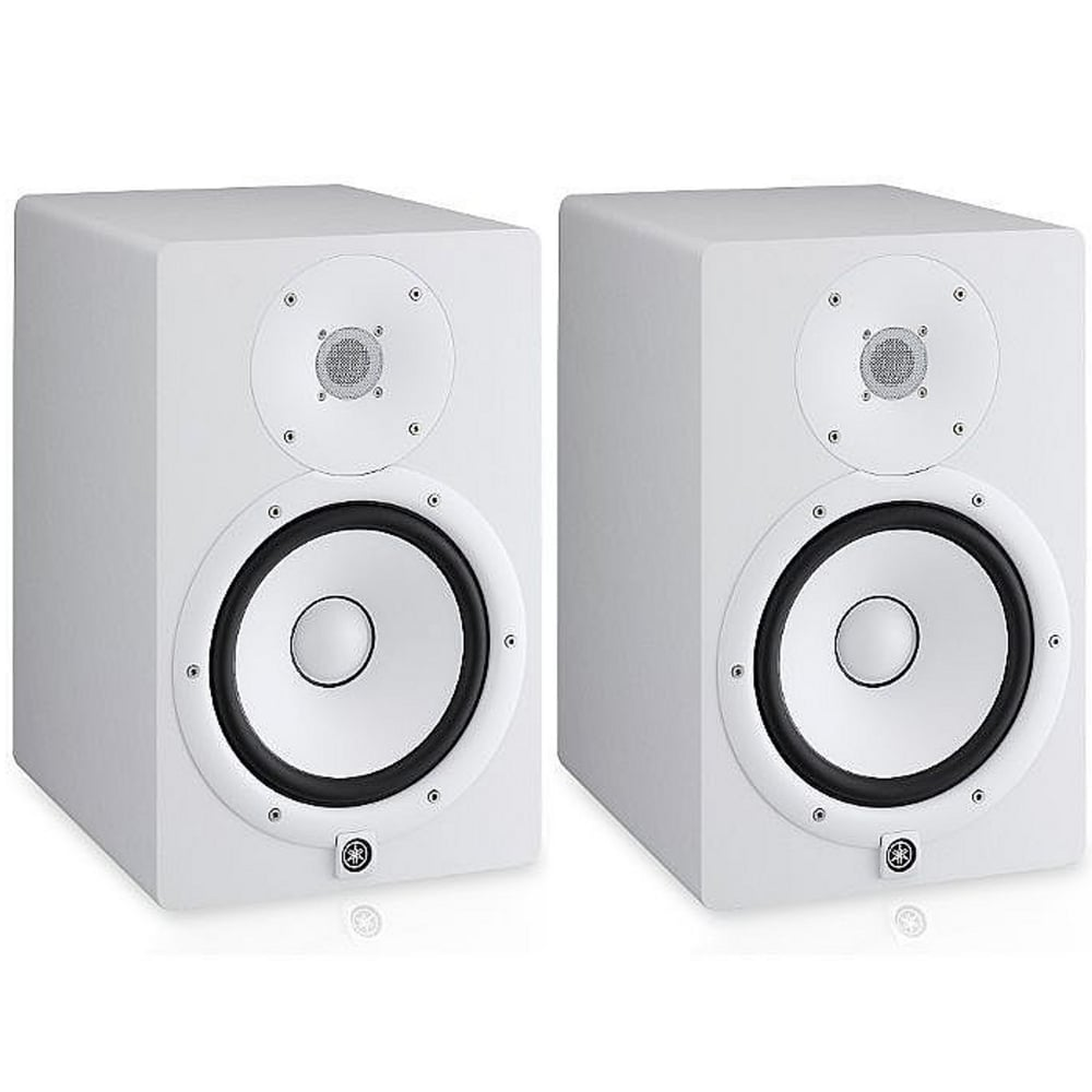 yamaha hs8 active studio monitors white pair