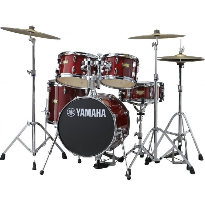 Yamaha JK6F5 | Manu Katche Signature Drum Kit | Cranberry Red | Hardware Pack