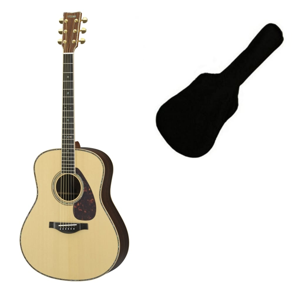 Yamaha ll56 custom are natural acoustic guitar from for Where are yamaha guitars made