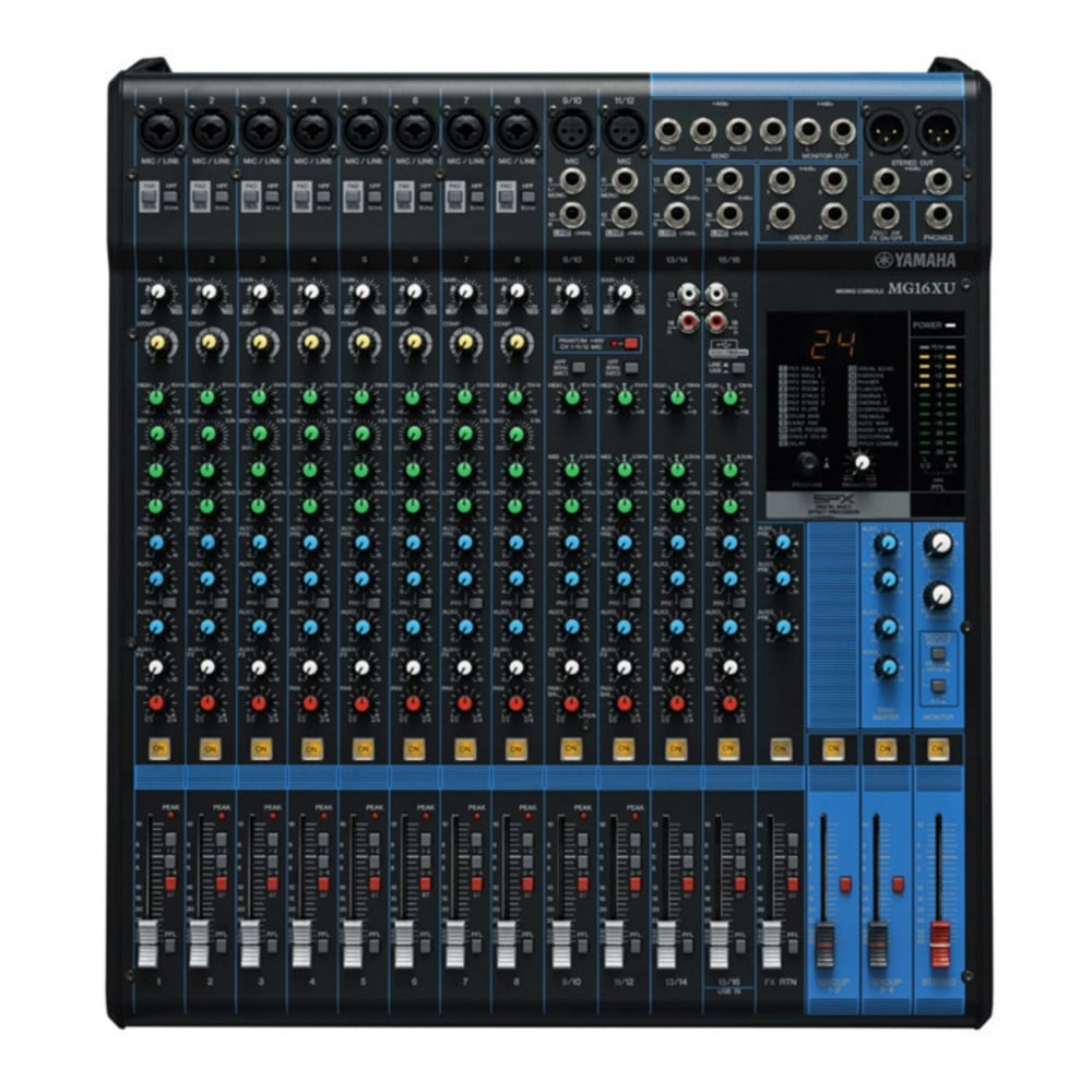 yamaha mg16xu analog usb mixer from rimmers music. Black Bedroom Furniture Sets. Home Design Ideas