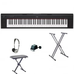 Yamaha NP32 Keyboard | Black | Bundle
