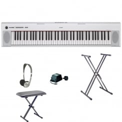 Yamaha NP32 Keyboard | White | Bundle