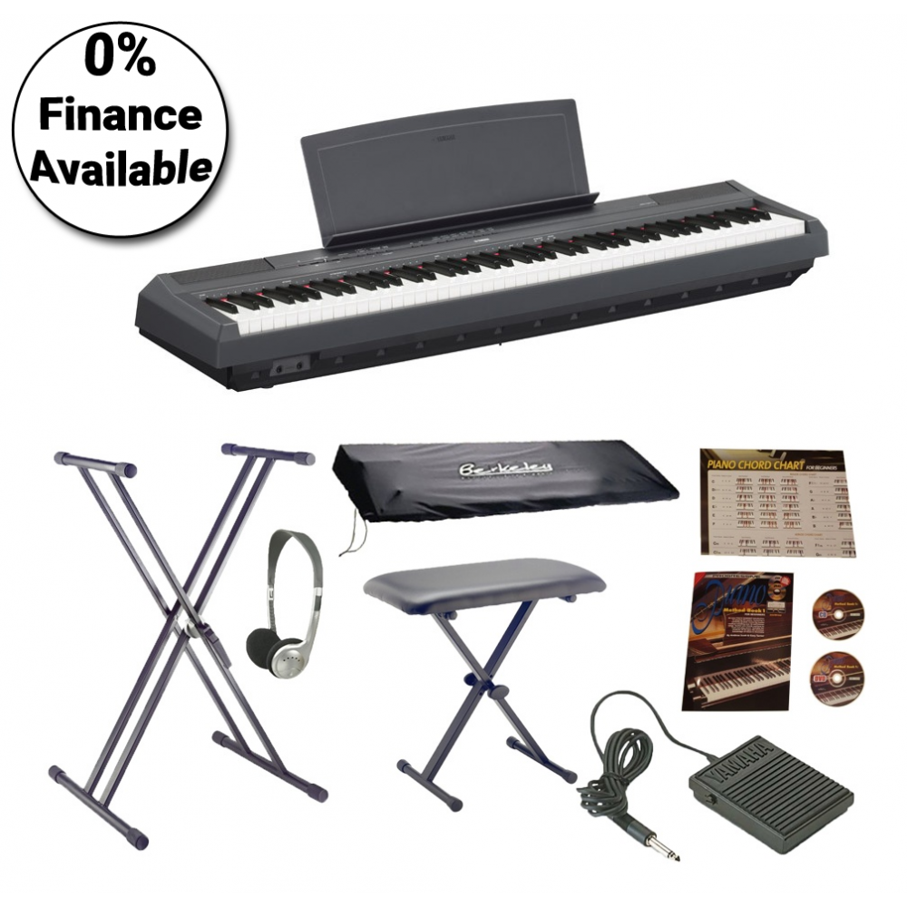 Yamaha p115b portable piano bundle for Yamaha digital piano dealers