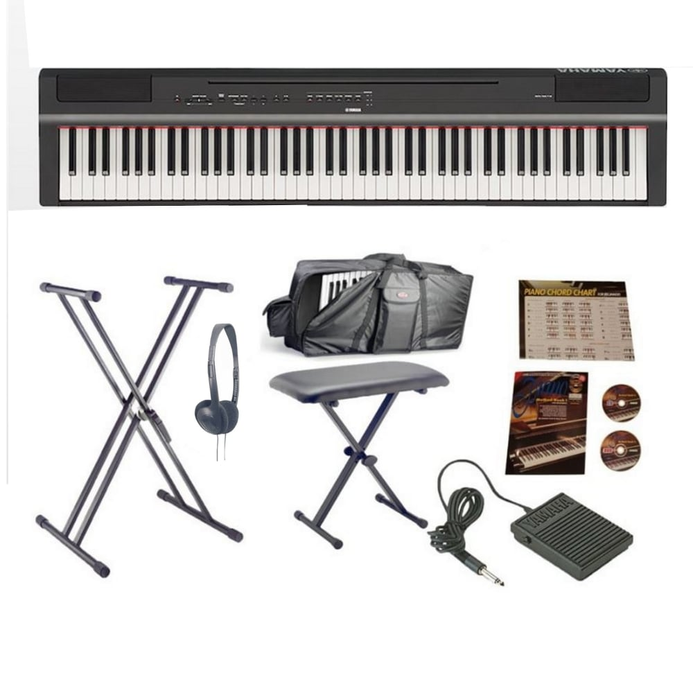 Yamaha P125 Digital Piano Black Advanced Package