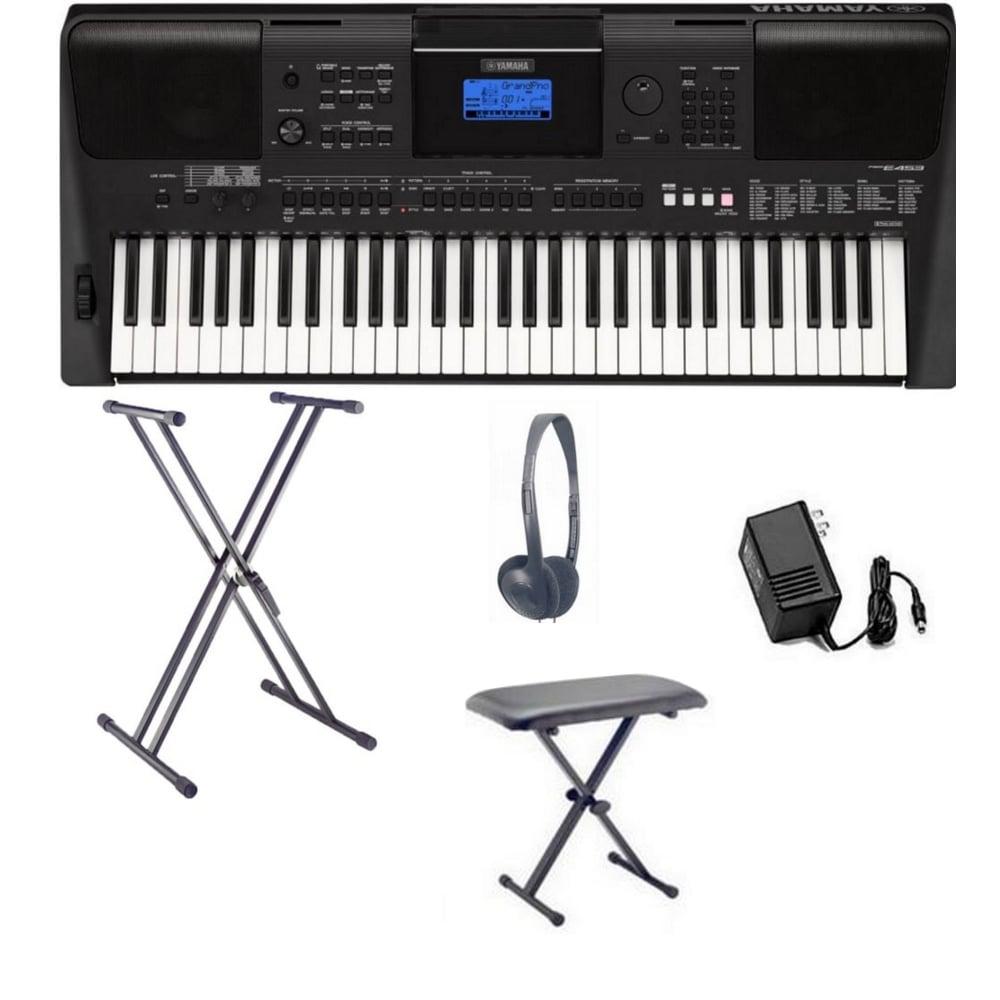yamaha psr e453 home keyboard big bundle from rimmers music. Black Bedroom Furniture Sets. Home Design Ideas