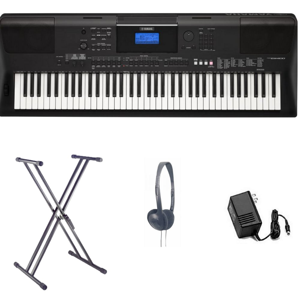 yamaha psr ew400 home keyboard bundle from rimmers music. Black Bedroom Furniture Sets. Home Design Ideas