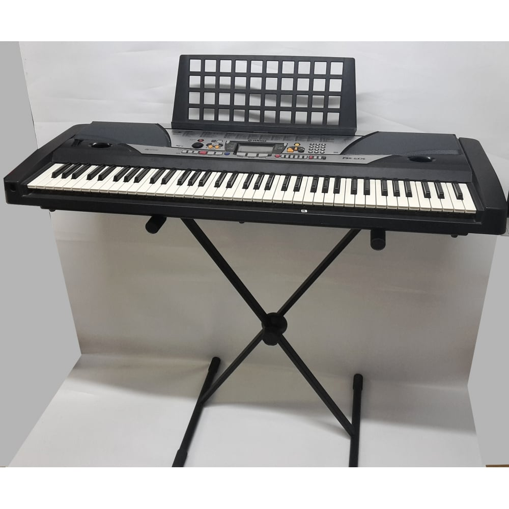 Yamaha psr gx76 portable keyboard from rocking rooster for Yamaha psr stand