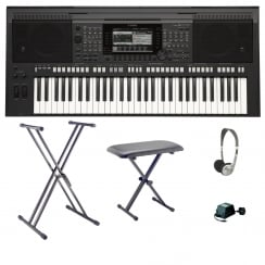 Yamaha PSR S770 Arranger Workstation Keyboard Bundle