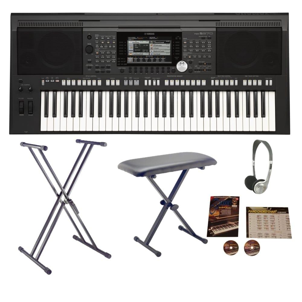 yamaha psr s970 arranger workstation keyboard bundle. Black Bedroom Furniture Sets. Home Design Ideas