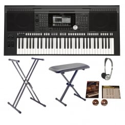 Yamaha PSR S970 Arranger Workstation Keyboard Bundle