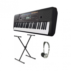 Yamaha PSRE253 Portable Keyboard with X Frame & Headphones