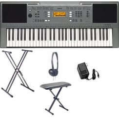 Yamaha PSRE353 Portable Keyboard with X Bench,XX Frame & Headphones