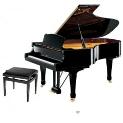 Yamaha S Series S6 SH Silent Grand Piano | Polished Ebony