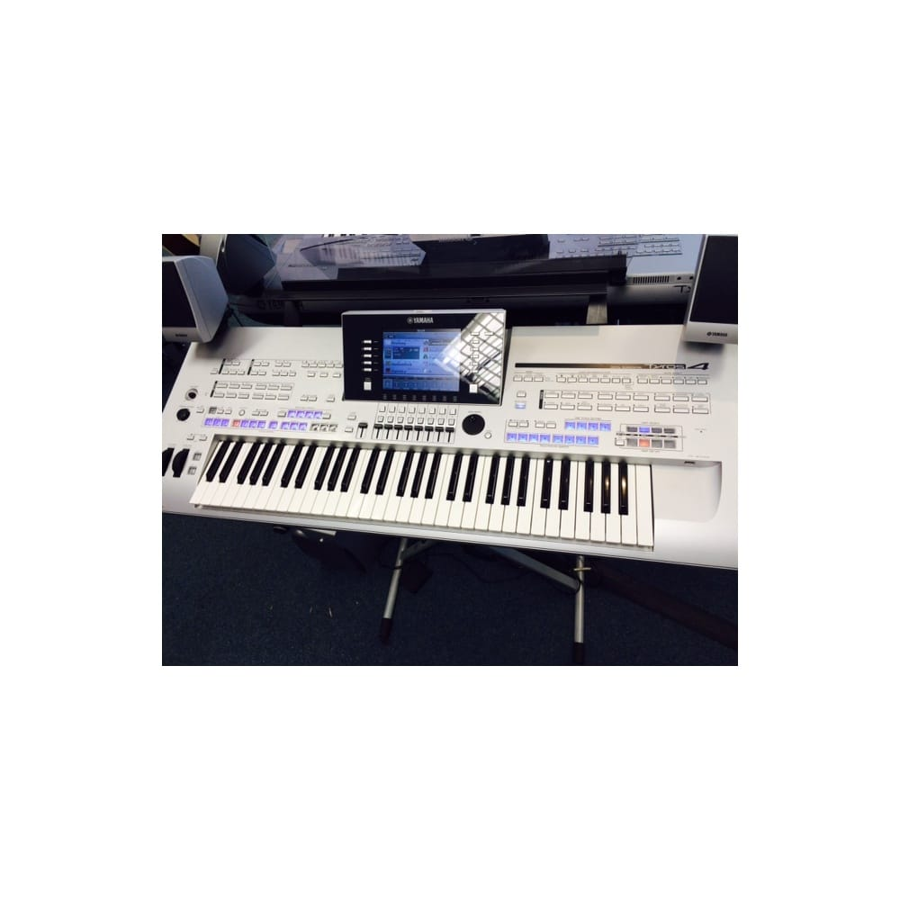 yamaha tyros 4 keyboard with ms04 speaker set used. Black Bedroom Furniture Sets. Home Design Ideas