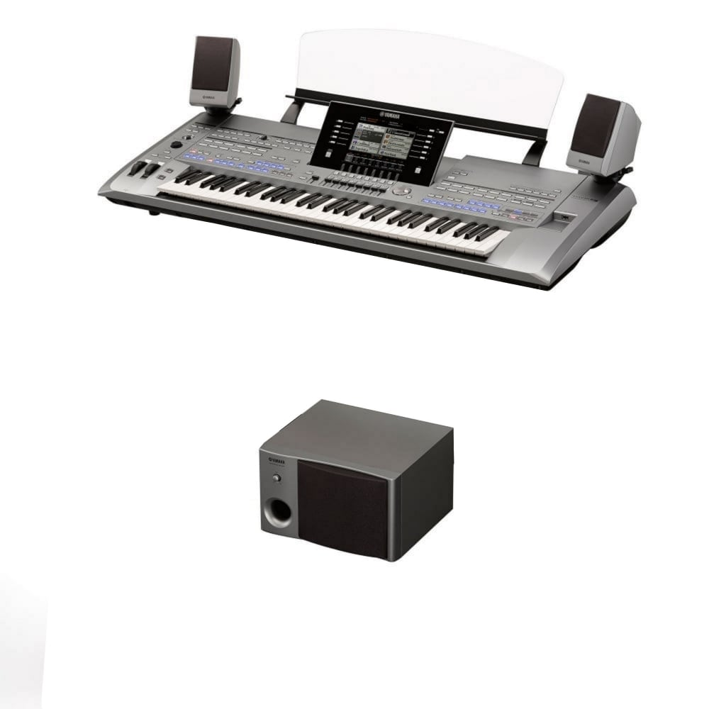 Yamaha tyros 5 61 key keyboard and ms05 speaker ex display for Yamaha expansion pack