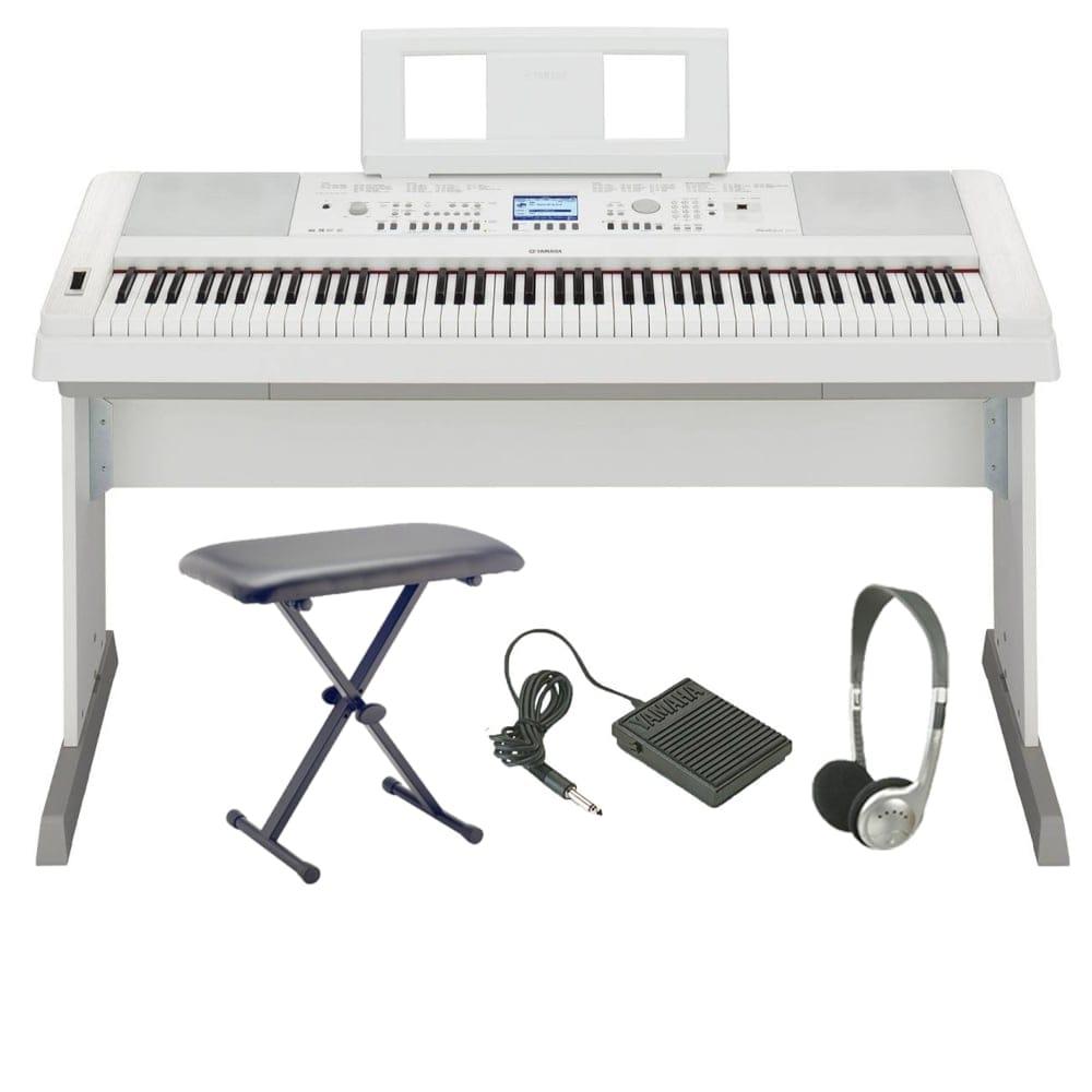 yamaha dgx650wh digital piano bundle. Black Bedroom Furniture Sets. Home Design Ideas