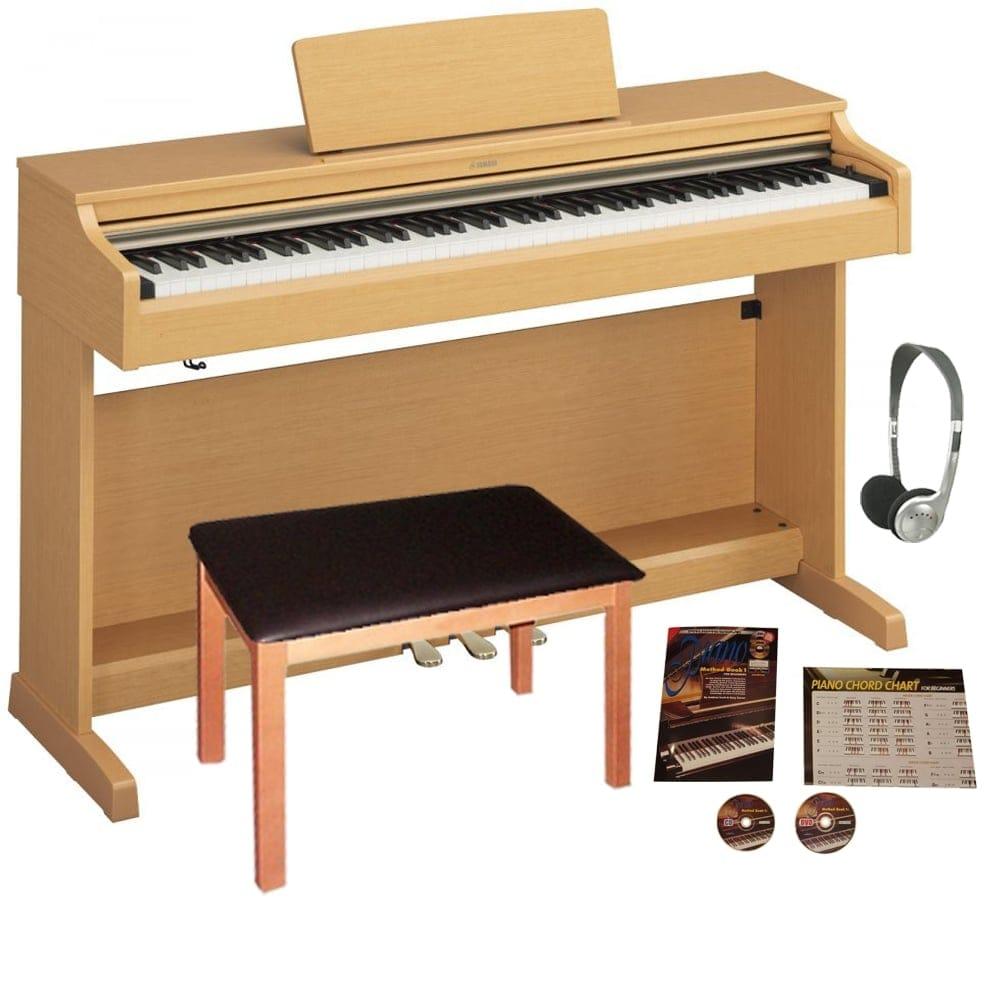 Yamaha ydp162 cherry digital piano bundle from rocking rooster for Yamaha dgx640c digital piano cherry