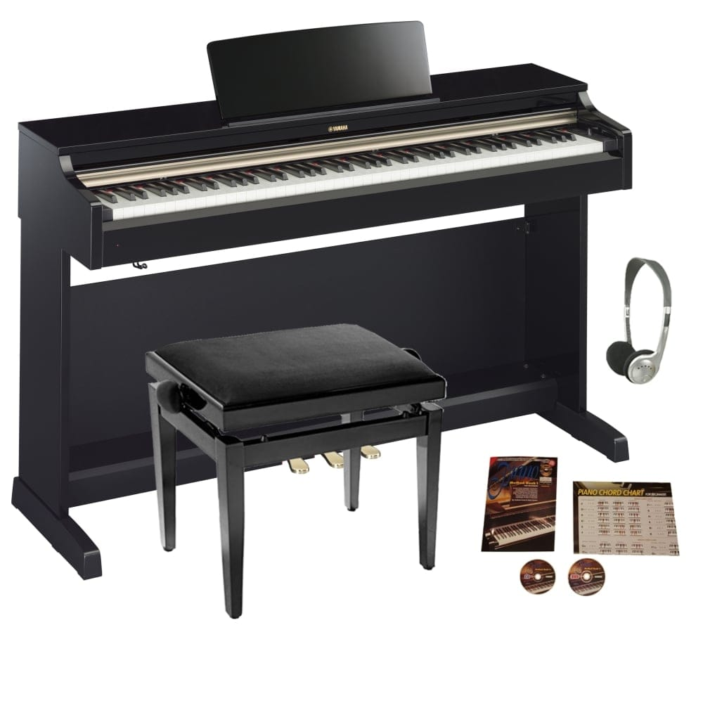 Yamaha ydp162 polished ebony digital piano bundle form for Yamaha ydp 162 digital piano