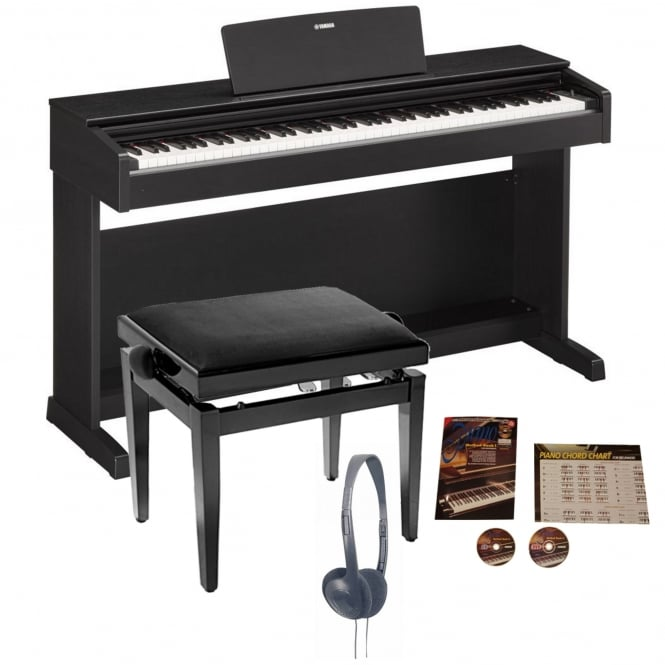 yamaha ydp 143 digital piano black walnut bundle from rimmers music. Black Bedroom Furniture Sets. Home Design Ideas