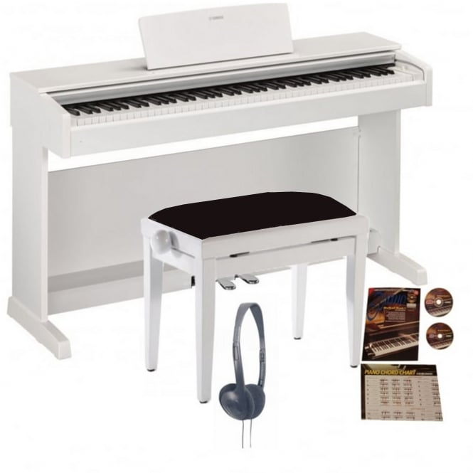 yamaha ydp 143 digital piano matte white bundle from rimmers music. Black Bedroom Furniture Sets. Home Design Ideas