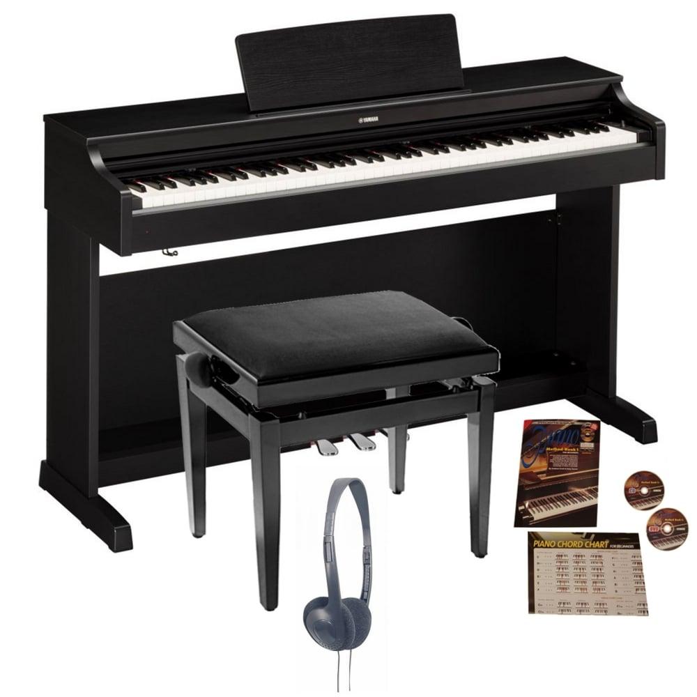 yamaha ydp 163 digital piano black walnut bundle from