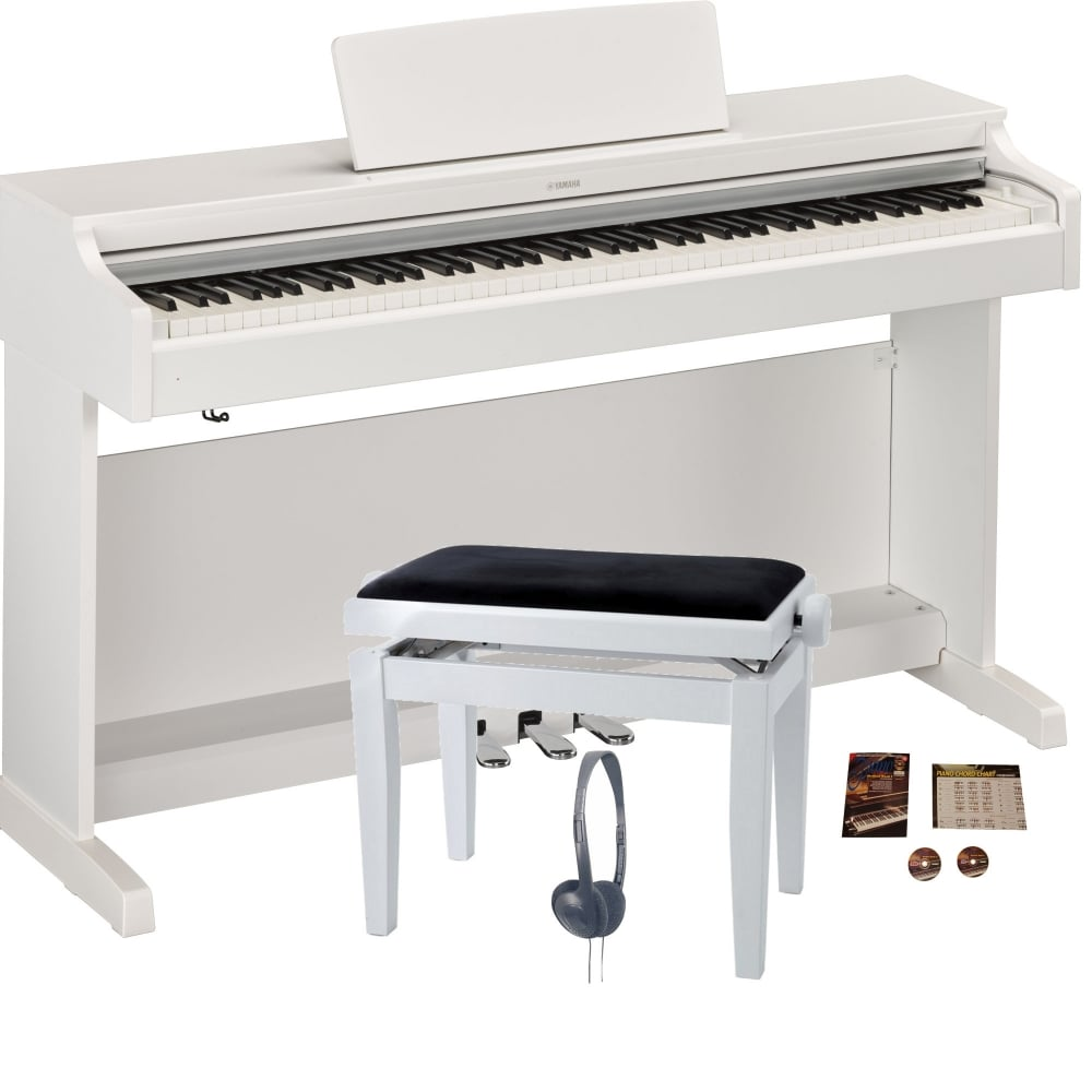 yamaha ydp 163 digital piano matte white bundle from. Black Bedroom Furniture Sets. Home Design Ideas