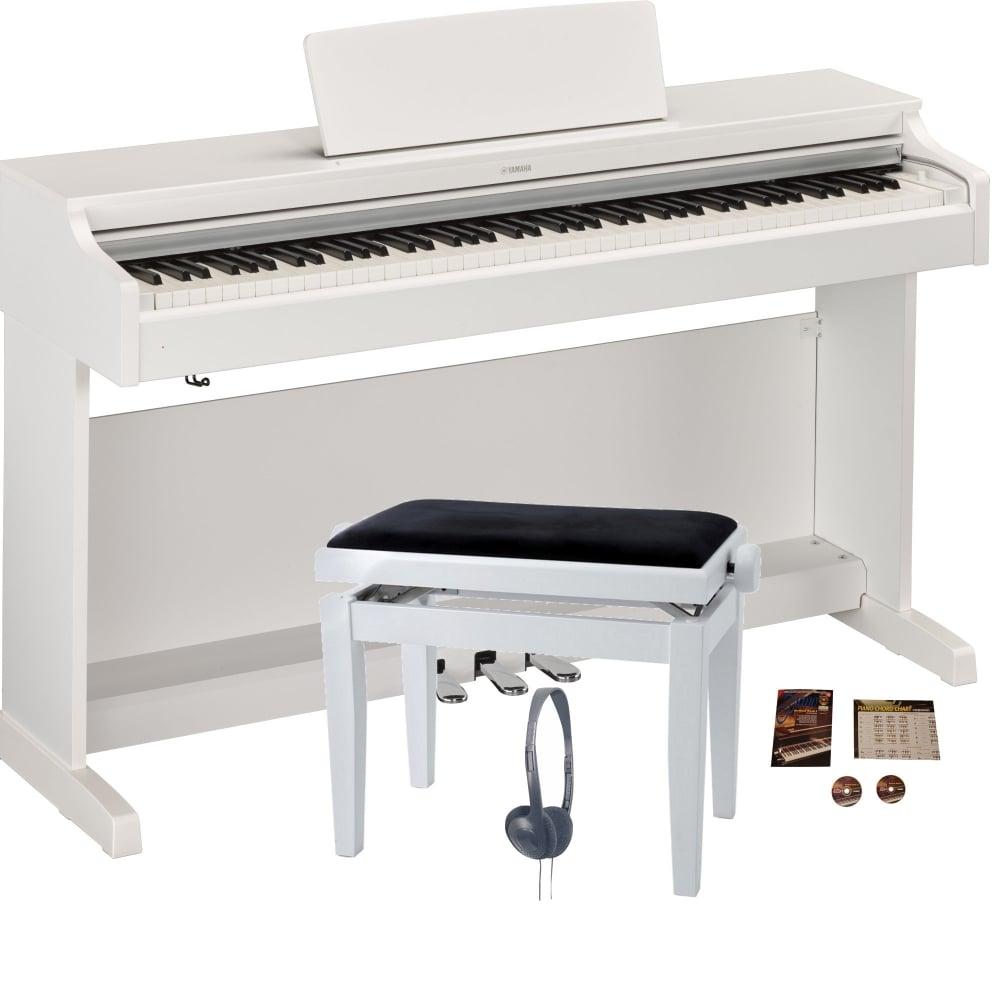 Yamaha ydp 163 digital piano matte white bundle from for Yamaha arius 163