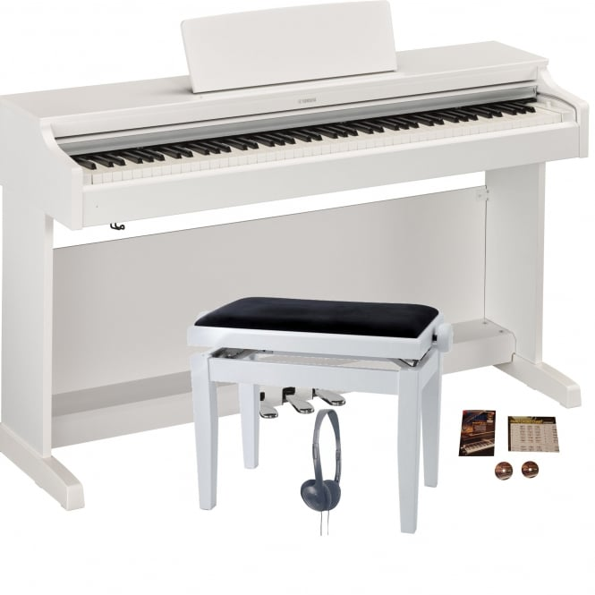 yamaha ydp 163 digital piano matte white bundle from rimmers music. Black Bedroom Furniture Sets. Home Design Ideas