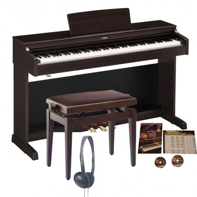 Yamaha YDP-163 Arius Digital Piano Rosewood Bundle