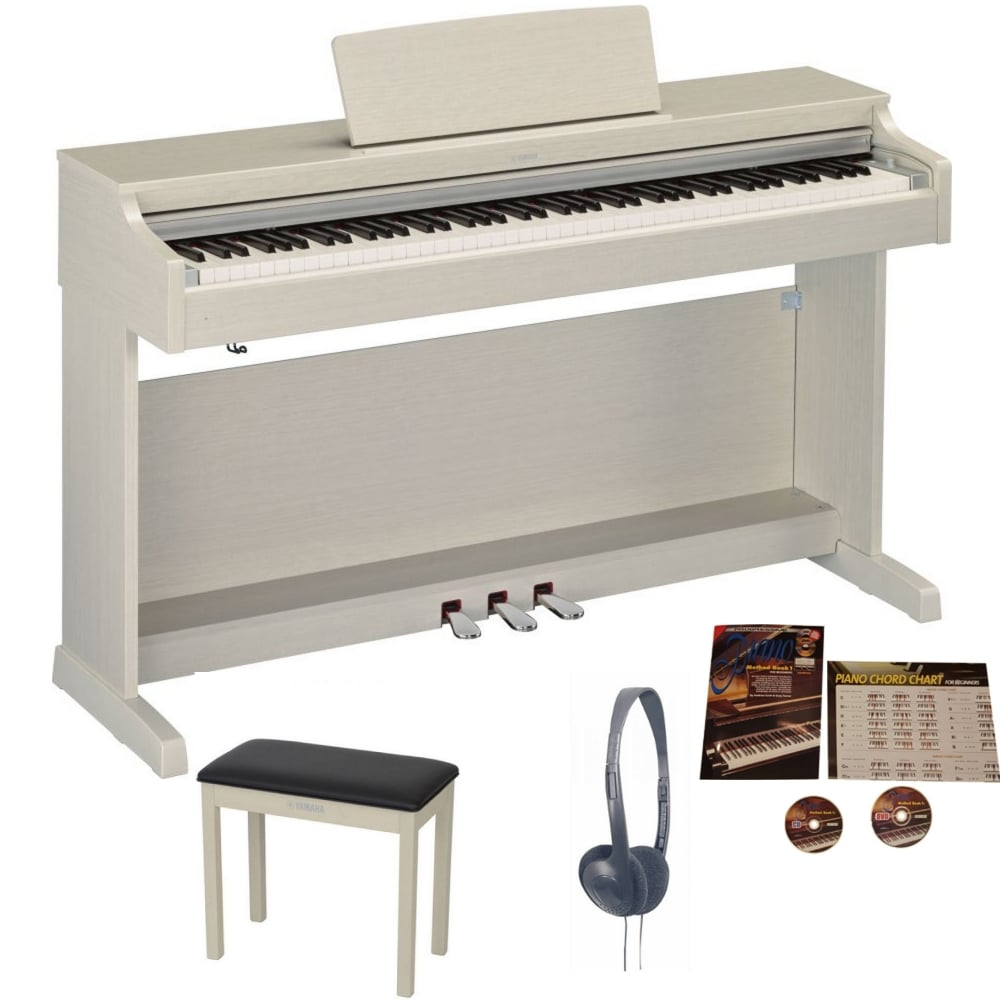 yamaha ydp 163 digital piano white ash bundle from rimmers music. Black Bedroom Furniture Sets. Home Design Ideas