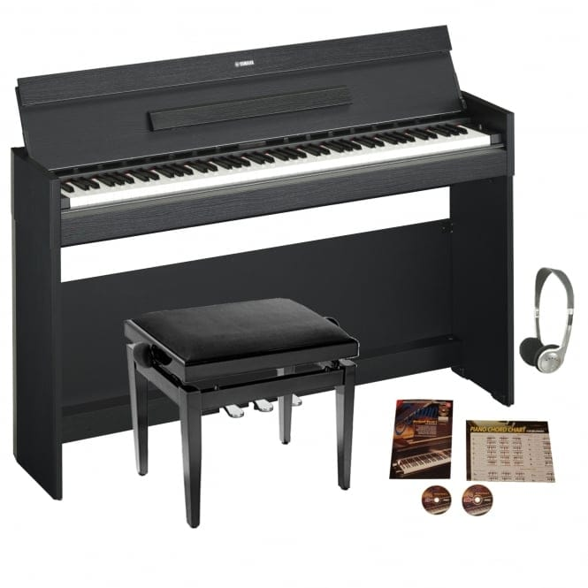 Yamaha YDPS52 Black Arius Personal Digital Piano Bundle