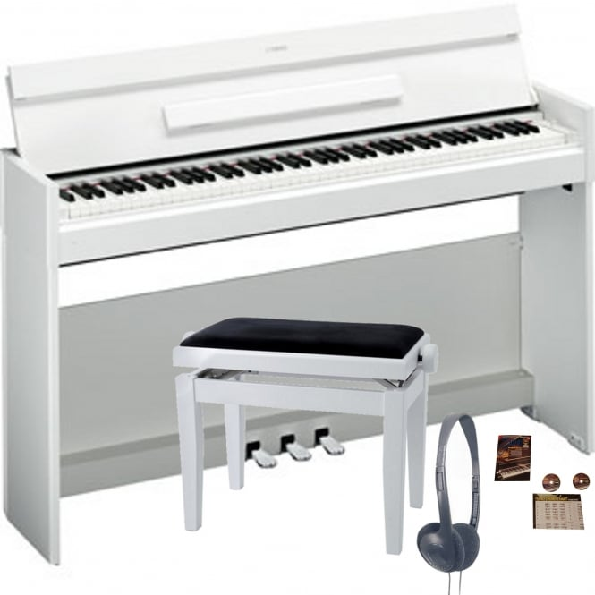 Yamaha YDPS52 White Arius Personal Digital Piano Bundle
