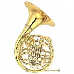 Yamaha YHR-668DII Full Double F/Bb French Horn Professional model in Clear lacquer finish - 'Kruspe' style with Detachable bell, with case