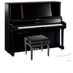 Yamaha YUS5TA Transacoustic Upright Piano | Polished White